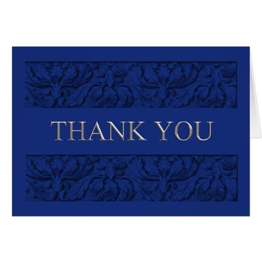 Acanthus-Blumengrenze 2 danken Ihnen zu kardieren Karte