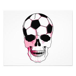 accents de rose de fille de tête de crâne de ballo prospectus en couleur