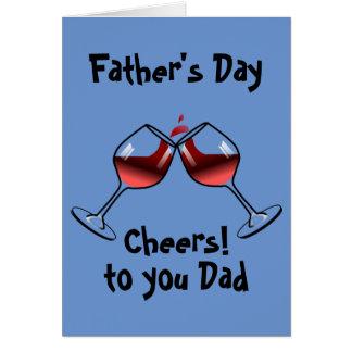 Acclamations et fête des pères de vin carte de vœux