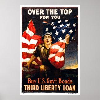Achetez les titres d'emprunt de guerre des États-U Poster