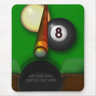 Acht Ball-Pool und Billard personalisiert Mauspad