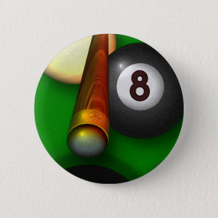 Acht Ball-Pool und Billard Runder Button 5,7 Cm