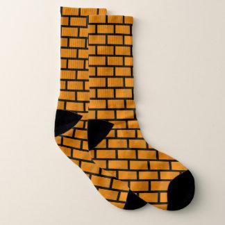 Acht Bit-Backsteinmauer Socken