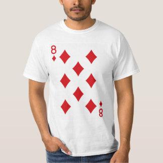 Acht der Diamant-Spielkarte T-Shirt