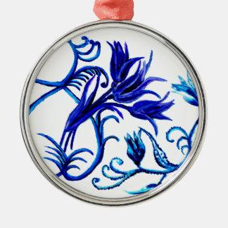 Acht des März Art3 Rundes Silberfarbenes Ornament