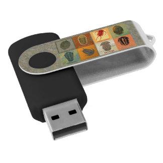 Acht Fossil Trilobites Schwenker-Blitz-Antrieb Swivel USB Stick 2.0