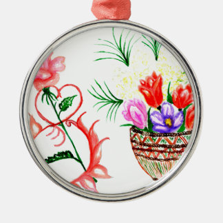 Acht von März-Kunst Silbernes Ornament
