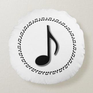 Achtelnote-Musik-Entwurf Rundes Kissen