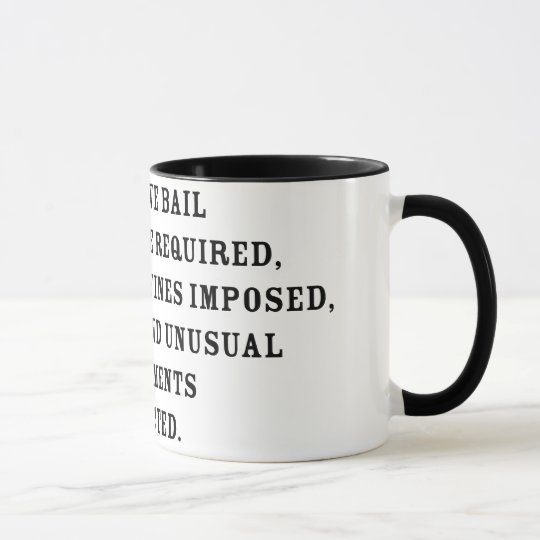 Achter Amendent Text Tasse