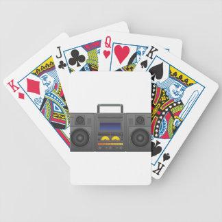 Achtzigerjahre angesagte Hopfenart Boombox Bicycle Spielkarten