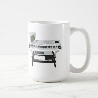 Achtzigerjahre Art-Probenehmer-Tastatur: Modell Kaffeetasse