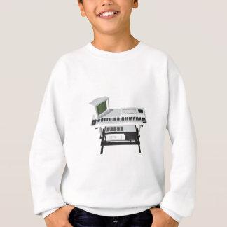 Achtzigerjahre Art-Probenehmer-Tastatur: Modell Sweatshirt
