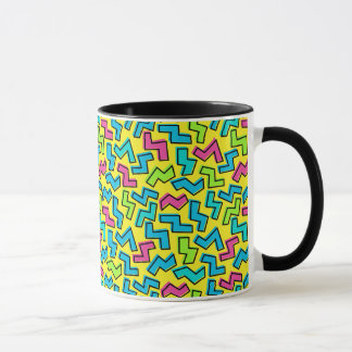 Achtzigerjahre/Neunzigerjahre Neon-Muster Tasse