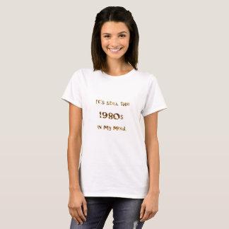 Achtzigerjahre Nostalgie-GoldGlitzer T-Shirt