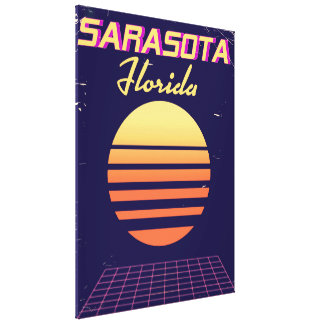 Achtzigerjahre Sarasota Florida Vintager Leinwanddruck