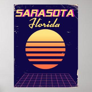 Achtzigerjahre Sarasota Florida Vintager Poster