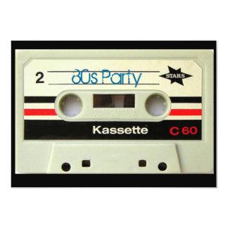 Achtzigerjahre Vintage geeky Retro Kassette 12,7 X 17,8 Cm Einladungskarte