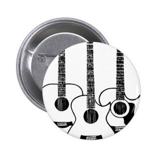acoustic guitars - music anstecknadelbutton