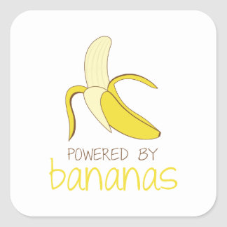 Actionné par des bananes sticker carré
