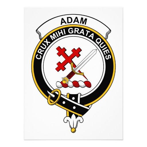 Adam-Clan-Abzeichen Personalisierte Einladungskarte