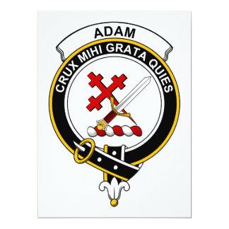 Adam-Clan-Abzeichen 16,5 X 22,2 Cm Einladungskarte