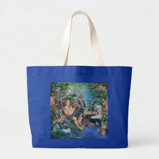 Adam, das Tiere u. den Auftritt von Eve-Tasche Jumbo Stoffbeutel