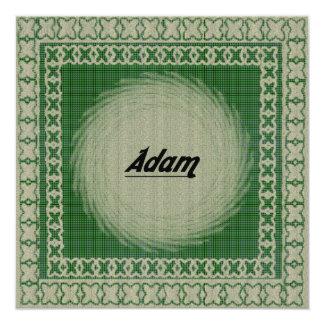 Adam-Einladung Quadratische 13,3 Cm Einladungskarte