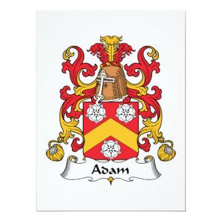 Adam-Familienwappen Ankündigungskarte