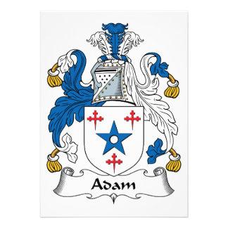Adam-Familienwappen Individuelle Einladungen