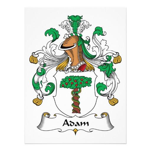 Adam-Familienwappen Individuelle Ankündigung