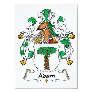 Adam-Familienwappen 16,5 X 22,2 Cm Einladungskarte