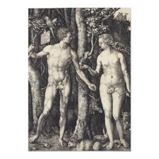Adam- und Eve-Stich durch Albrecht Durer 12,7 X 17,8 Cm Einladungskarte