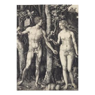 Adam- und Eve-Stich durch Albrecht Durer Individuelle Ankündigskarten