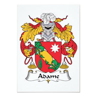 Adame Familienwappen 12,7 X 17,8 Cm Einladungskarte