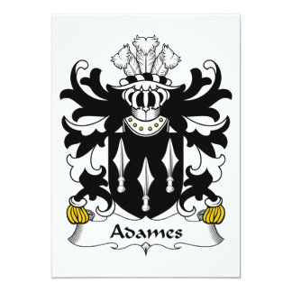 Adames Familienwappen 12,7 X 17,8 Cm Einladungskarte