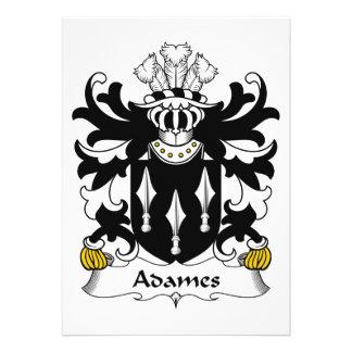 Adames Familienwappen Personalisierte Einladungen