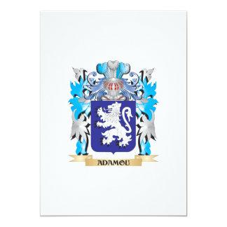 Adamou-Wappen 12,7 X 17,8 Cm Einladungskarte