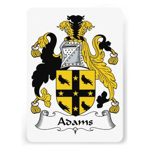Adams-Familienwappen Ankündigungskarte