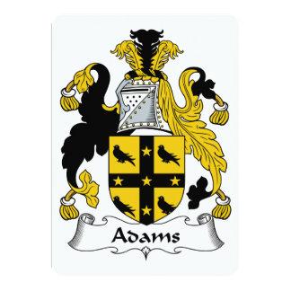 Adams-Familienwappen 12,7 X 17,8 Cm Einladungskarte