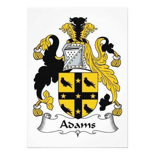Adams-Familienwappen Ankündigungen