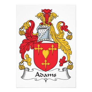 Adams-Familienwappen Ankündigungskarten