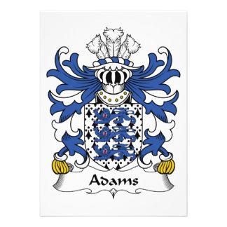 Adams-Familienwappen Individuelle Einladung