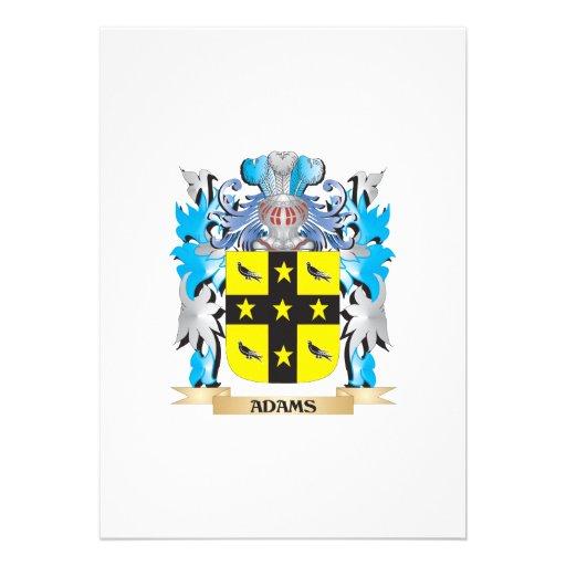 Adams-Wappen Ankündigung