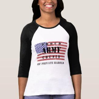Addieren Sie die Armee-Cousin-NamensShirt Ihres T-Shirt
