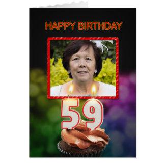 Addieren Sie ein Bild, einen 59. Geburtstag mit Karte