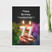 Addieren Sie einen Namen, 77. Geburtstagskarte