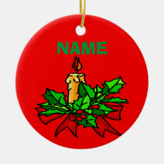 Addieren Sie einen Namensweihnachtsbaum Keramik Ornament