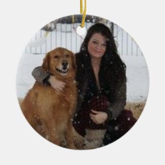 Addieren Sie Haustier-Foto/-person Keramik Ornament