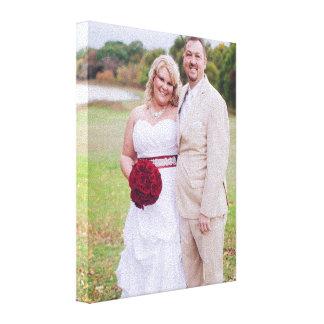 Addieren Sie Hochzeits-Foto oder andere 's Leinwanddruck