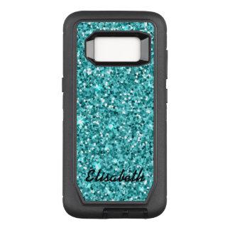 Addieren Sie Ihr BLAUER NamensGlitter OtterBox Defender Samsung Galaxy S8 Hülle